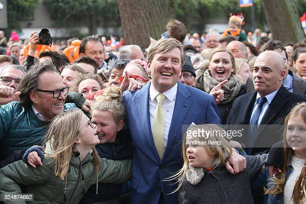 King Willem-Alexander of The Netherlands with Princess Ariane of The Netherlands attend King's Day , the celebration of the birthday of the Dutch...