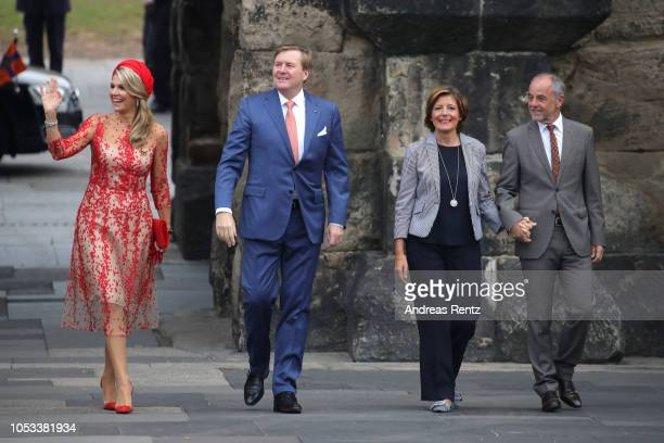 King Willem-Alexander of The Netherlands with Queen Maxima of The Netherlands and Governor of Rhineland-Palatinate Malu Dreyer with her Husband Klaus...