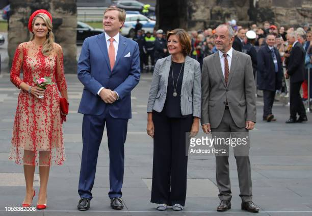 King WillemAlexander of The Netherlands with Queen Maxima of The Netherlands and Governor of RhinelandPalatinate Malu Dreyer with her Husband Klaus...