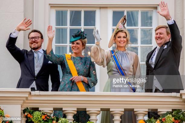 King Willem-Alexander of The Netherlandsm Queen Maxima of The Netherlands, Prince Constantijn of The Netherlands and Princess Laurentien of The...
