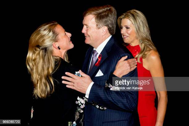 King WillemAlexander Queen Maxima of The Netherlands and Princess Mabel of The Netherlands at the Red Ribbon Concert organized by the AIDS2018...