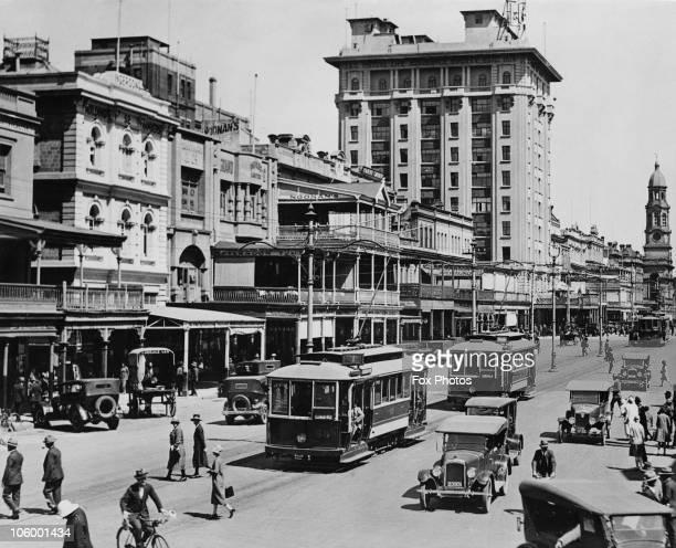 King William Street in Adelaide South Australia circa 1925