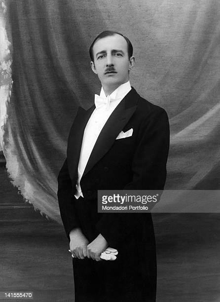 King Zog I of Albania posing in a tailcoat. 1920s