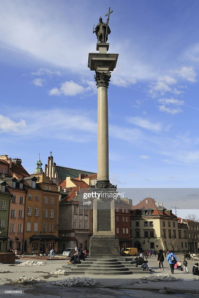 King Zygmunt Column - Kolumna Zygmunta, Warsaw : Stock Photo