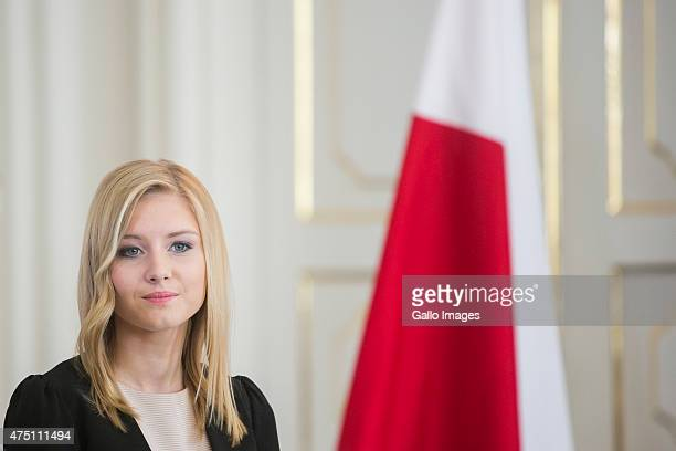 Kinga Duda attends the ceremony where her Father Andrzej Duda received the official results of the presidential elections from the National Electoral...