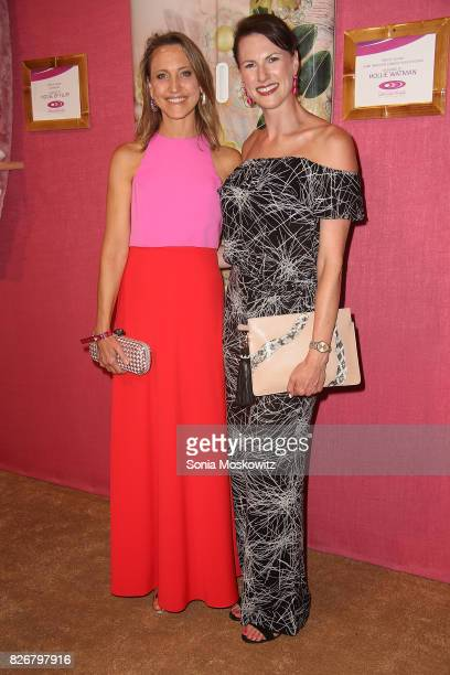 Kinga Lampert and Jennifer Bruno attend the Hamptons Paddle and Party for Pink to benefit the Breast Cancer Research Foundation on August 5 2017 at...