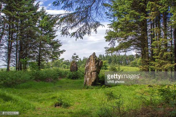 kingarth prehistoric standing stones, isle of bute - argyll and bute stock photos and pictures