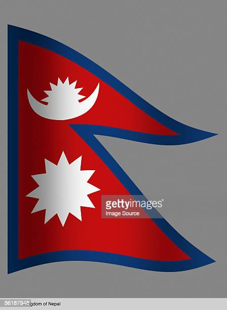 kingdom of nepal - nepali flag stock pictures, royalty-free photos & images
