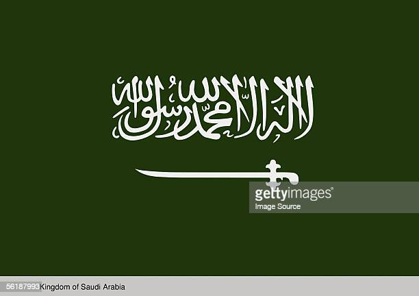 kingdom of saudi arabia - saudi arabian flag stock photos and pictures