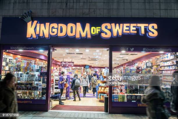 Kingdom of Sweets store seen in London famous Oxford street Central London is one of the most attractive tourist attraction for individuals whose...