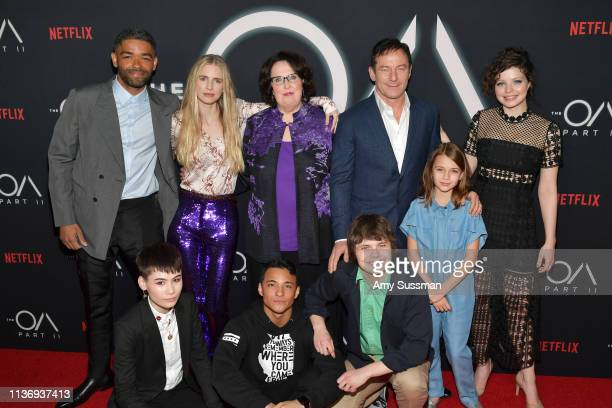 Kinglsey BenAdir Ian Alexander Brit Marling Phyllis Smith Brandon Perea Jason Isaacs Brendan Meyer Zoey Todorovsky and Chloë Levine attend Netflix's...