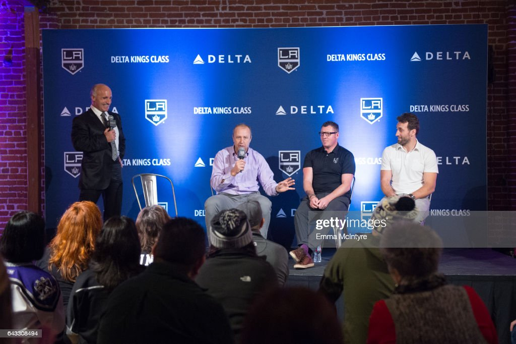 Fans Go All Access With Delta KINGS Class: LA KINGS Alumni Jarret Stoll, Derek Armstrong, Jaroslav Modry, And Daryl Evans Join Delta For First Delta KINGS Class Event