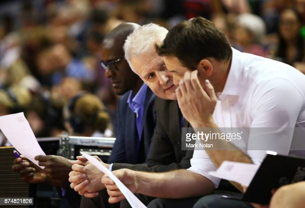 Kings coach Andrew Gaze is pictured on the bench during the round seven NBL match between the Illawarra Hawks and the Sydney Kings at Wollongong...