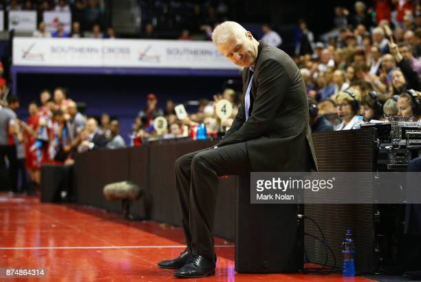 Kings coach Andrew Gaze looks dejected during the round seven NBL match between the Illawarra Hawks and the Sydney Kings at Wollongong Entertainment...