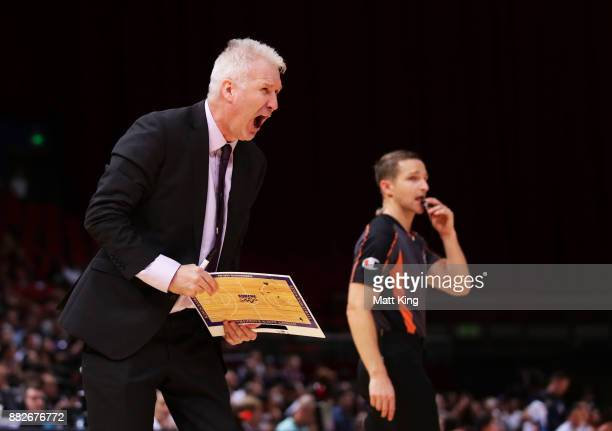 Kings coach Andrew Gaze looks on during the round eight NBL match between the Sydney Kings and the Cairns Taipans at Qudos Bank Arena on November 30...