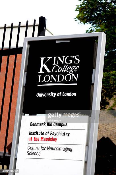kings college and maudsley hospitals sign - king's college london stock pictures, royalty-free photos & images