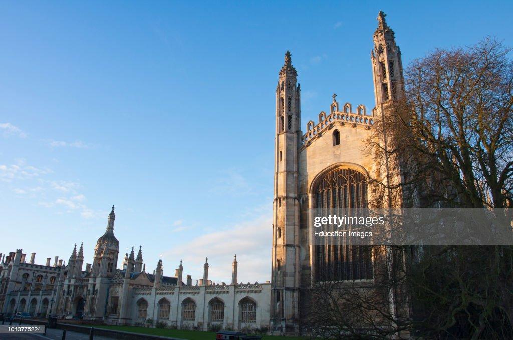 Kings College Cambridge, England : Nachrichtenfoto