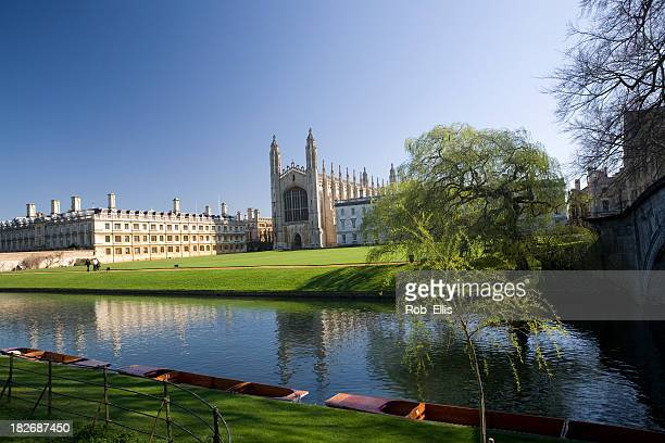 kings college, cambridge, from the backs - cambridge university stock pictures, royalty-free photos & images