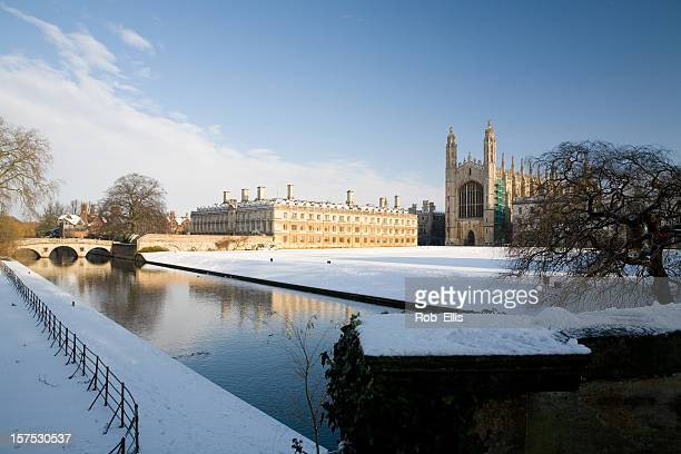 Kings College Cambridge in winter