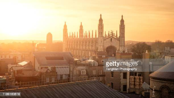 king's college, cambridge - cambridge stock pictures, royalty-free photos & images