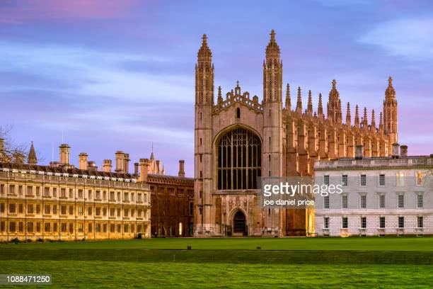 king's college chapel, cambridge, england - cambridge cambridgeshire imagens e fotografias de stock