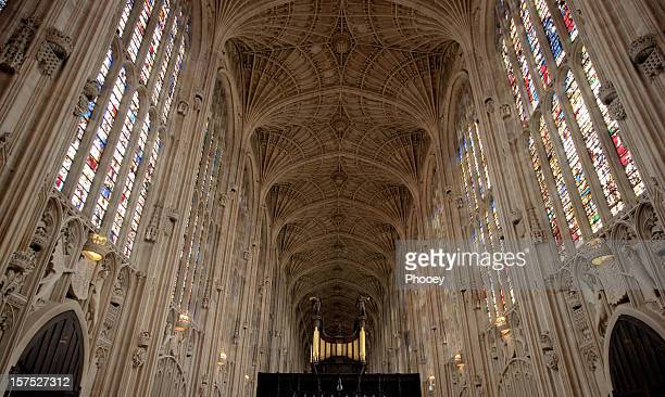 king's college-kapelle, cambridge (hdr - history stock-fotos und bilder