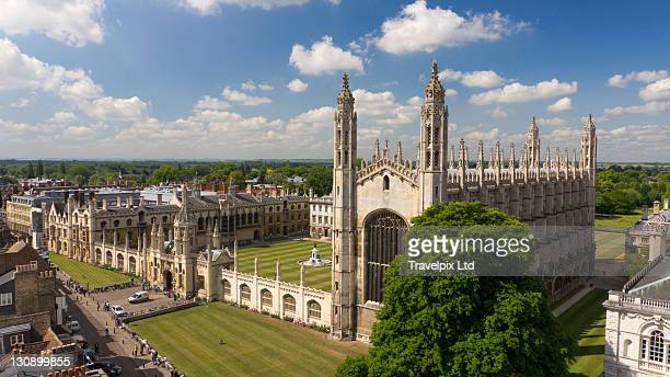 kings college chapel, cambridge, uk - chapel stock pictures, royalty-free photos & images