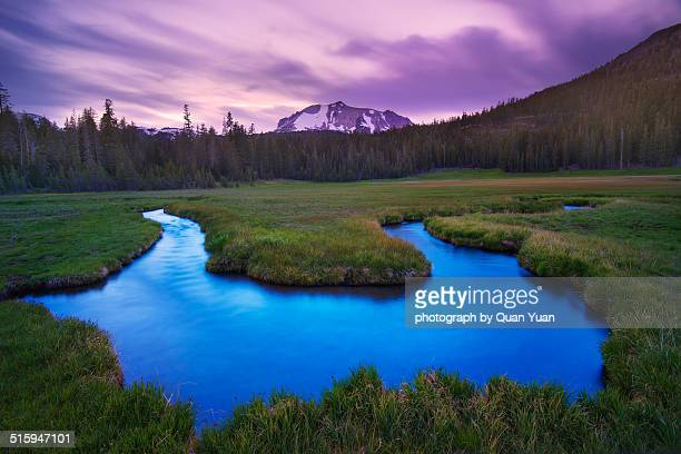 kings creek meadow dusk - yuan quan stock pictures, royalty-free photos & images