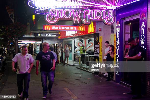 kings cross - showgirls - bouncer security staff stock photos and pictures