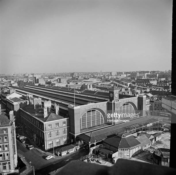 King's Cross Station London 19601972 Looking towards King's Cross Railway Station from the roof of St Pancras Hotel with the cityscape beyond