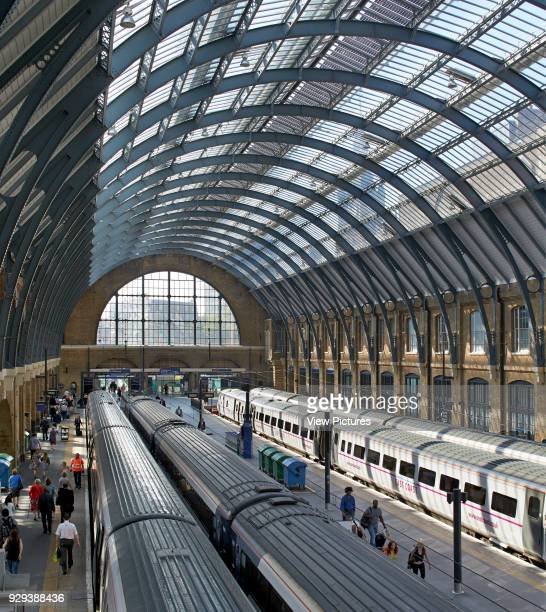 King's Cross trainshed London United Kingdom Architect Network Rail 2013 Restored twin trainsheds letting light flood back in to the station