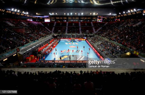 Kings Cup Semi Finals match between Benidorm and Liberbank Cuenca at La Caja Magica on March 07, 2020 in Madrid, Spain.
