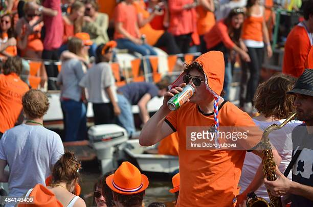 Kings Day party in Amsterdam The Netherlands
