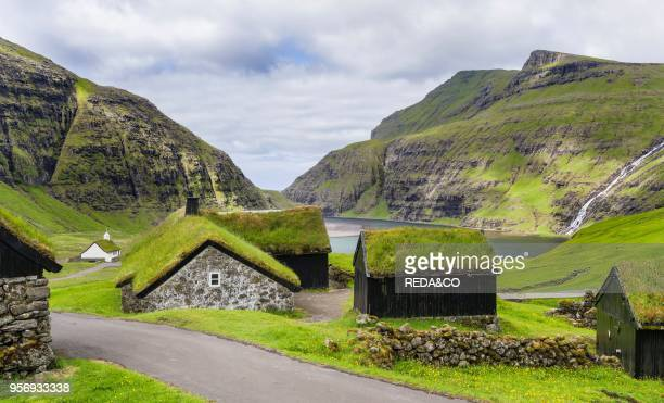 Kings Farm in the valley of Saksun one of the main attractions of the Faroe Islands The island Streymoy one of the two large islands of the Faroe...