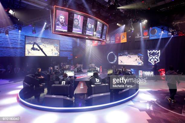 Kings Guard Gaming against Magic Gaming during the NBA 2K League Mid Season Tournament on June 8 2018 at the NBA 2K League Studio Powered by Intel in...