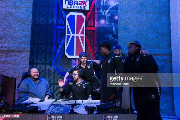 Kings Guard Gaming speak to media after game against Blazer5 Gaming during Day 2 of the NBA 2K The Ticket tournament on July 13 2018 at the NBA 2K...