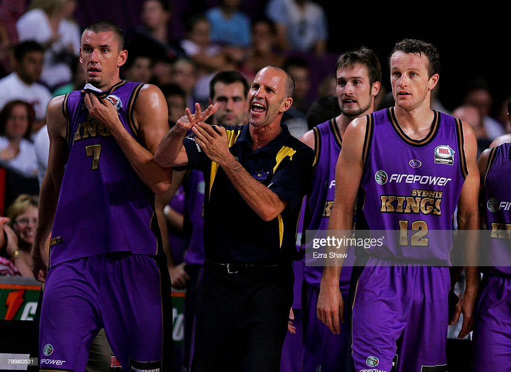 Kings head coach Brian Goorjian calls a time out during game one of the NBL Semi Final Series between the Sydney Kings and the Perth Wildcats at Sydney Entertainment Centre on February 25, 2008 in Sydney, Australia.