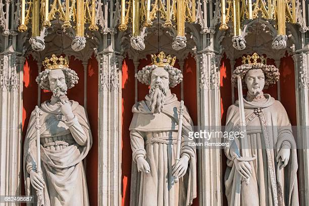 kings in stone - york minster stock pictures, royalty-free photos & images