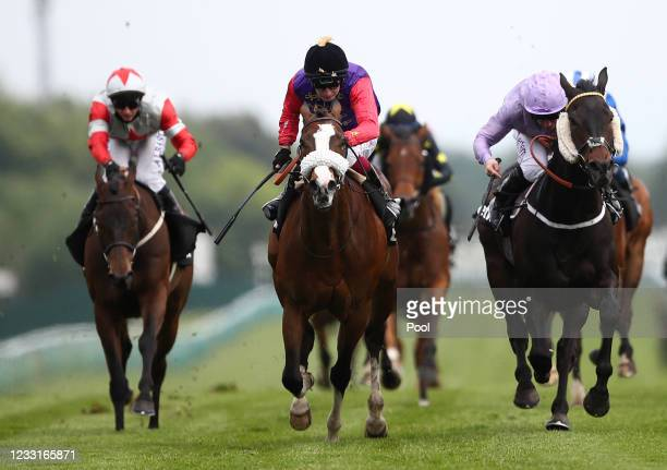 King's Lynn ridden by Oisin Murphy wins the Betway Achilles Stakes at Haydock Park Racecourse on May 29, 2021 in Newton-le-Willows, England.