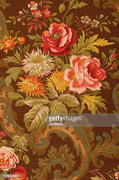 Kings Muir Close Up Antique Floral Fabric