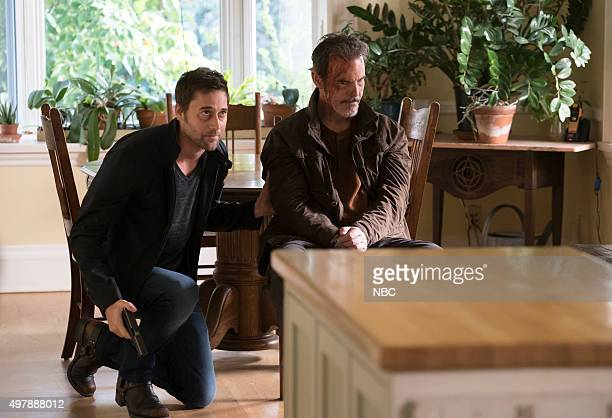 THE BLACKLIST 'Kings of the Highway' Episode 308 Pictured Ryan Eggold as Tom Keen Andrew Divoff as Karakurt