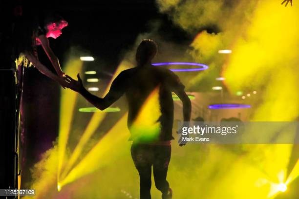 Kings player enters the Arena before 1the round 15 NBL match between the Sydney Kings and the Perth Wildcats at Qudos Bank Arena on January 27, 2019...