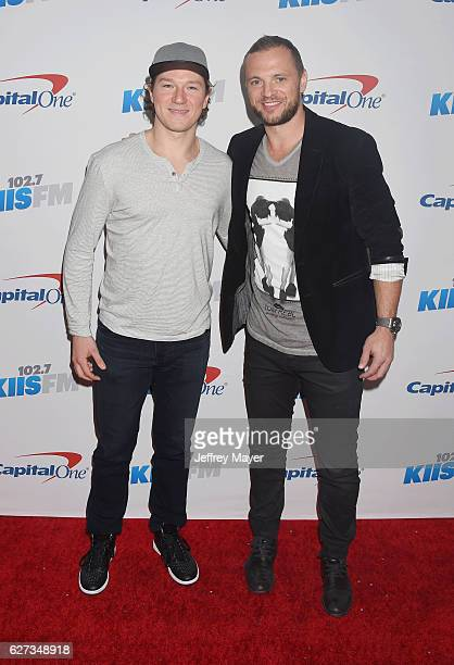 Kings players Tyler Toffoli and Mark Yannetti attend 102.7 KIIS FM's Jingle Ball 2016 at Staples Center on December 2, 2016 in Los Angeles,...