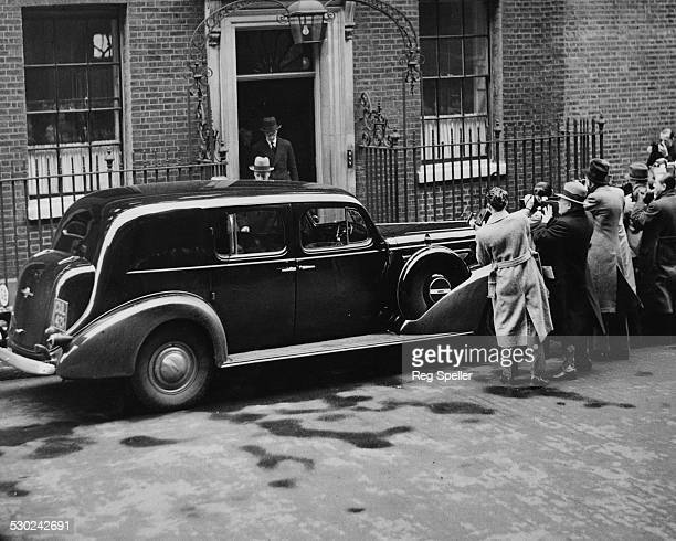 King's Representative Mr C Monckton entering the King's car after a visit to 10 Downing Street London December 5th 1936