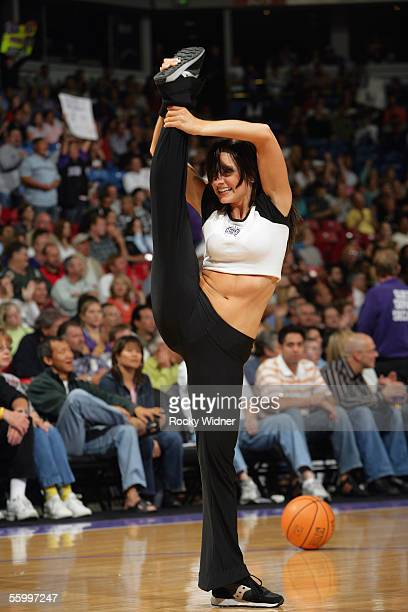 Kings Royal Court Dancer performs during a preseason game between the Sacramento Kings and the Denver Nuggets at Arco Arena on October 18 2005 in...