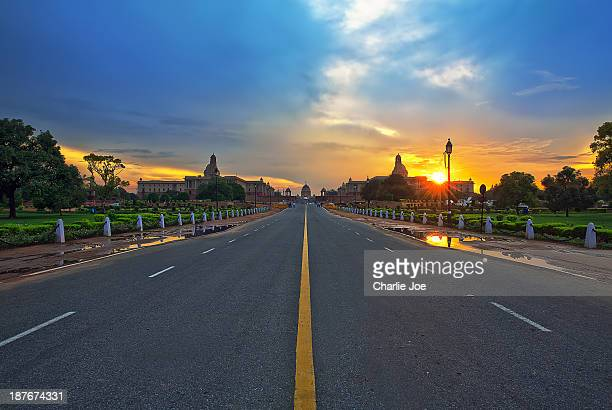 king's way - delhi stock pictures, royalty-free photos & images