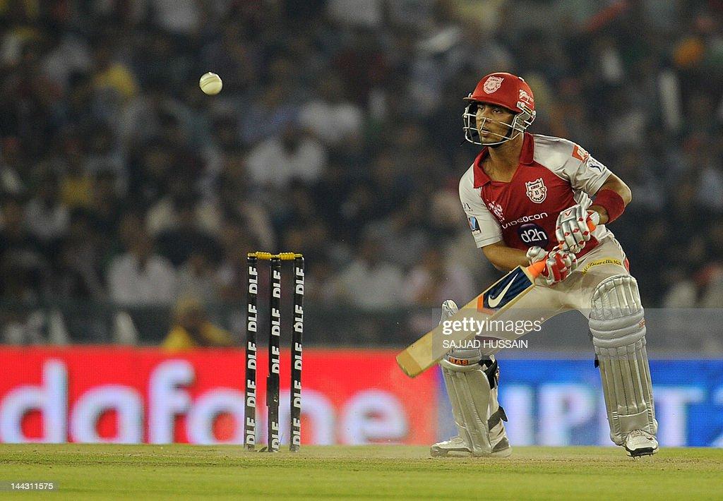 Kings XI Punjab batsman Mandeep Singh pl : News Photo