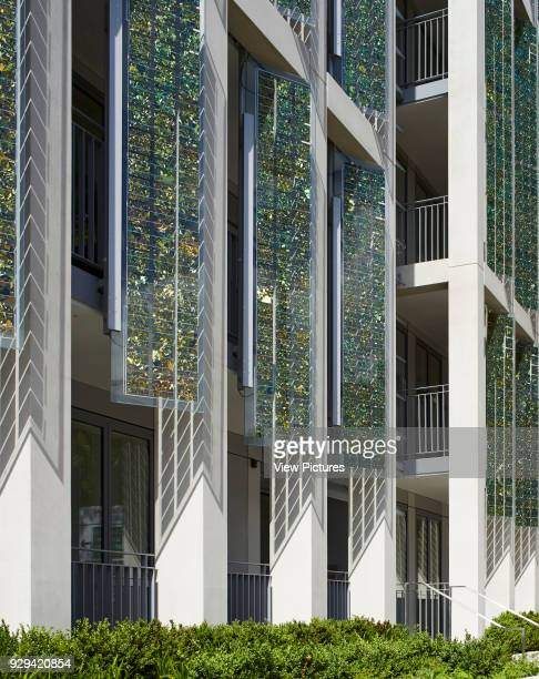 Kingsgate House London United Kingdom Architect Horden Cherry Lee Architects Ltd 2014 Vertical glass shutters and colonnade