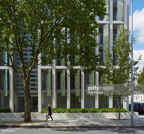 Kingsgate House London United Kingdom Architect Horden Cherry Lee Architects Ltd 2014 Partial facade elevation across King's Rd