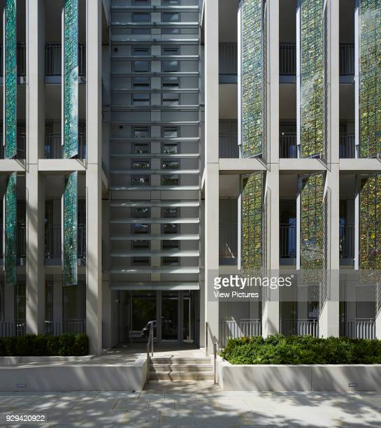 Kingsgate House London United Kingdom Architect Horden Cherry Lee Architects Ltd 2014 Front entrance to building with ramp and stairway